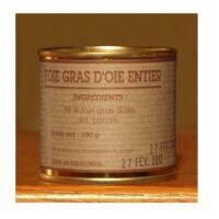 Foie gras d'oie entier Boîte 100gr