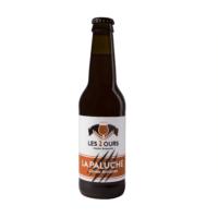 """Bière Ambrée La Paluche """"Brasserie Les 2 Ours"""" 75cl"""