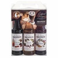 Coffret 3 sirops pour cafés aromatisés Monin 3x25cl