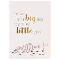 "Carte postale amitié  ""Friendship isn't a big thing…"""