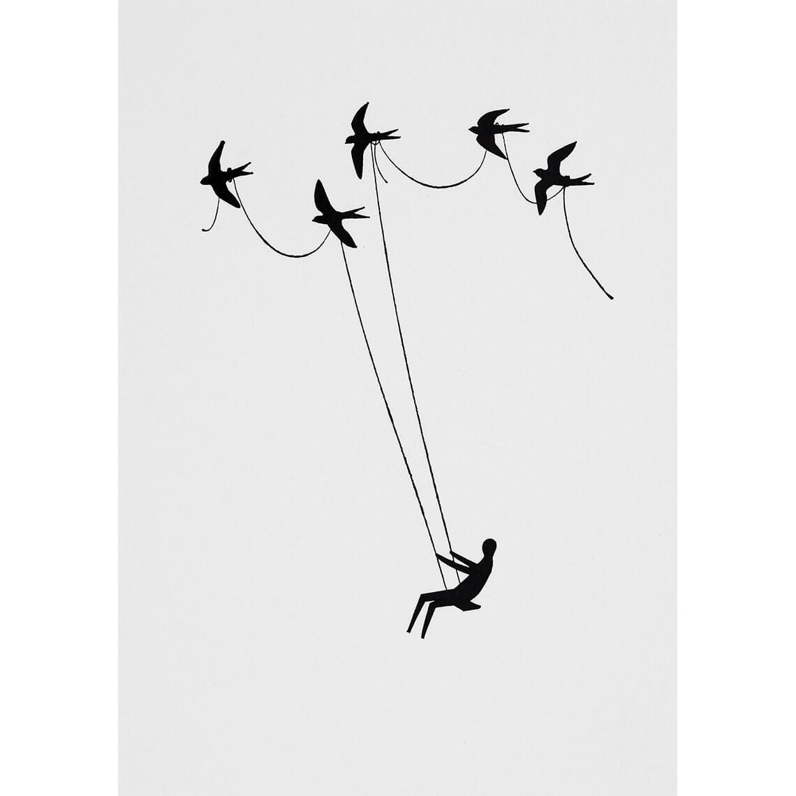 carte-postale-balancoire-oiseau-rader