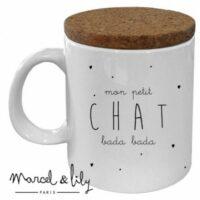 Mug avec couvercle Chat Bada Bada
