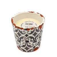 Bougie artisanale en céramique parfumée au jasmin