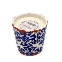 Bougie artisanale en céramique parfum magnolia