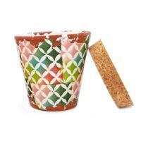 Bougie artisanale en céramique parfum pain d'épices