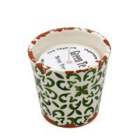 Bougie artisanale en céramique parfumée au thé vert
