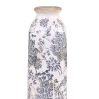 "Vase ""Melun"" fleur bleue"