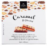 Caramel, chocolat au lait, amandes et éclats de cacao 200gr