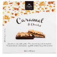 Caramel et chocolat noir aux noisettes grillées 200gr