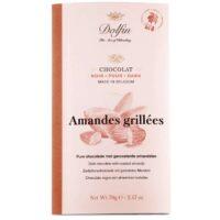 Tablette de chocolat noir aux amandes grillées 70gr