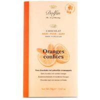 Tablette de chocolat noir aux oranges confites 70gr